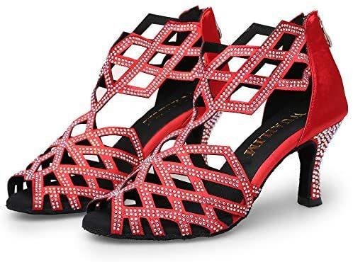 WUAILIM Women's Ballroom Dance Shoes